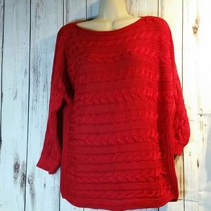 Woman's red Ralph Lauren sweater size M